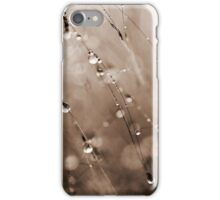 Abstract Grass Water Drop Droplet Nature Grey Gray iPhone Case/Skin