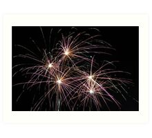 Fireworks - Pink and Orange Art Print