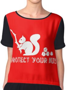 Protect your nuts Chiffon Top