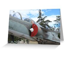 Military Jet on Display Greeting Card