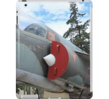 Military Jet on Display iPad Case/Skin