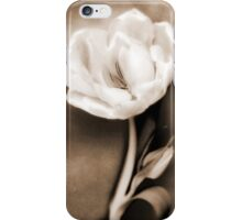 Sepia White Tulip Flower Floral Fine Art iPhone Case/Skin
