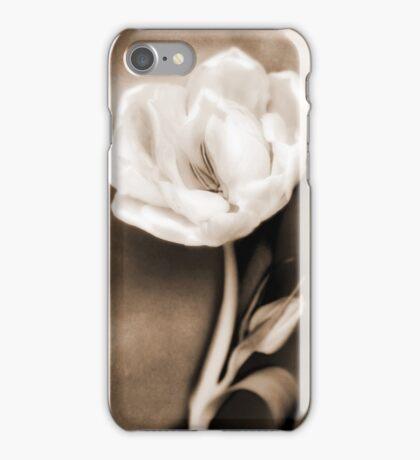 Sepia White Tulip Flower Floral Fine Art iPhone Case/Skin