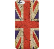 'Cracked Britannia' Union Jack Flag iPhone Case/Skin