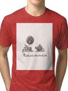 Mummy snail Tri-blend T-Shirt