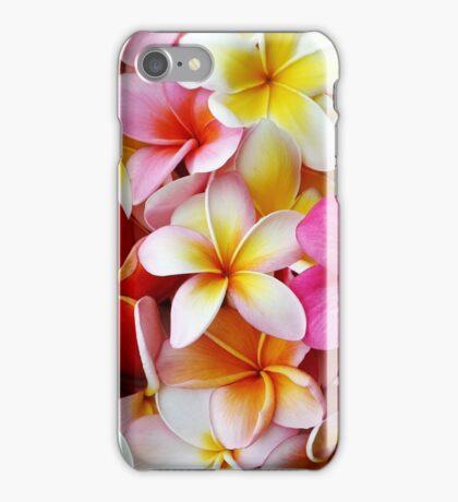 Plumeria Pink White Frangipani Tropical Hawaiian Flower Floral Fine Art iPhone Case/Skin