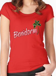 BENIDORM LOGO FROM POPULAR TV SERIES CULT BRITISH TV Women's Fitted Scoop T-Shirt