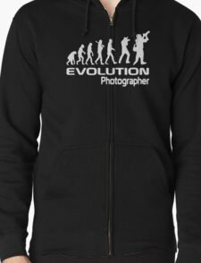 Evolution Of A Photographer Zipped Hoodie