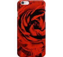 Red Ranunculus Flower Black Background Floral Flowers iPhone Case/Skin