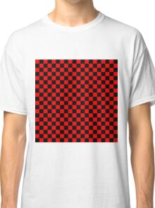 Black and Red Checkerboard Classic T-Shirt
