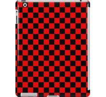 Black and Red Checkerboard iPad Case/Skin