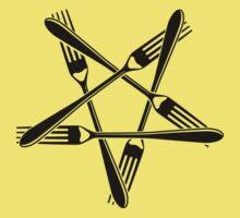 Fork Pentagram (black) Baby Tee
