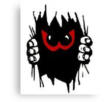 Monster peekaboo, peek-a-boo play Canvas Print