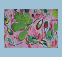 Watercolour abstract with frog One Piece - Short Sleeve