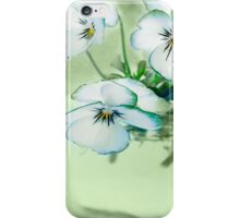 Purple White Violet Floral Flowers Glass Vase Flower iPhone Case/Skin