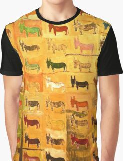 Donkey in a Grid Graphic T-Shirt