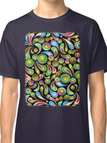 Drops Psychedelic Abstract Pattern   Classic T-Shirt