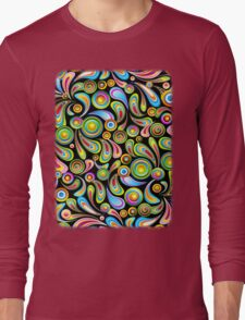 Drops Psychedelic Abstract Pattern   Long Sleeve T-Shirt