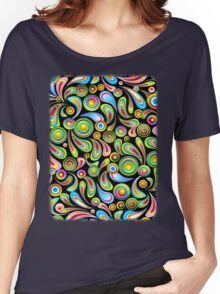Drops Psychedelic Abstract Pattern   Women's Relaxed Fit T-Shirt