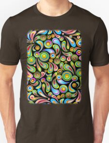 Drops Psychedelic Abstract Pattern   T-Shirt
