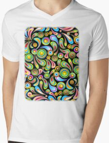 Drops Psychedelic Abstract Pattern   Mens V-Neck T-Shirt