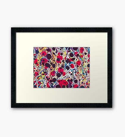 Psychedelic Vintage Marbled Paper Pepe Psyche Framed Print