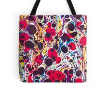 Psychedelic Vintage Marbled Paper Pepe Psyche Tote Bag