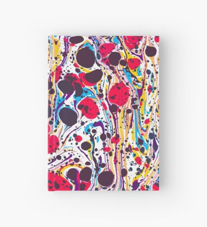 Psychedelic Vintage Marbled Paper Pepe Psyche Hardcover Journal