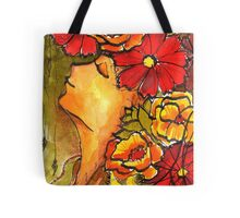Lady in green... Tote Bag