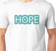Hope Simple Design Peace Love  Unisex T-Shirt