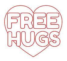 Free Hugs Cute Simple Design Love Photographic Print