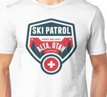 SKI ALTA UTAH Skiing Ski Patrol Mountain Art Unisex T-Shirt