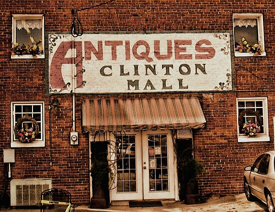 """""""Antiques, Clinton Mall, #1""""... prints and products by © Bob Hall"""