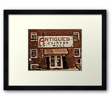 """Antiques, Clinton Mall, #1""... prints and products Framed Print"