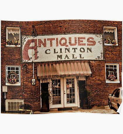 """Antiques, Clinton Mall, #1""... prints and products Poster"