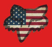 Fox Racing American Flag Baby Tee