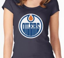 Edmonton Oilers Women's Fitted Scoop T-Shirt