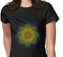 Technicolor Flower Womens Fitted T-Shirt