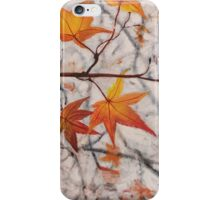 Red Autumn Leaves iPhone Case/Skin