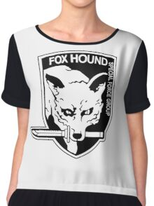 FOX HOUND Art Chiffon Top