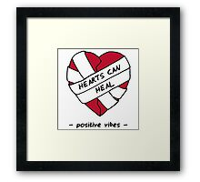 Hearts Can Heal Framed Print