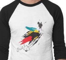 Crazy Brush Men's Baseball ¾ T-Shirt
