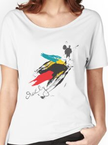 Crazy Brush Women's Relaxed Fit T-Shirt