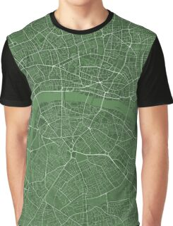 LONDON MAP, GREEN Graphic T-Shirt