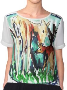 In the forest of dream Chiffon Top