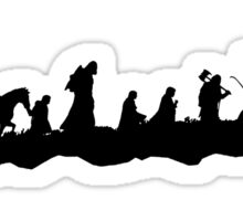 The Fellowship of the Ring (Black) Sticker
