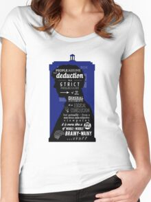 Wholock - A Study in Deduction Women's Fitted Scoop T-Shirt