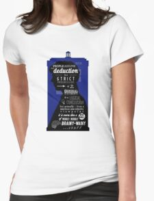 Wholock - A Study in Deduction Womens Fitted T-Shirt