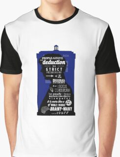 Wholock - A Study in Deduction Graphic T-Shirt