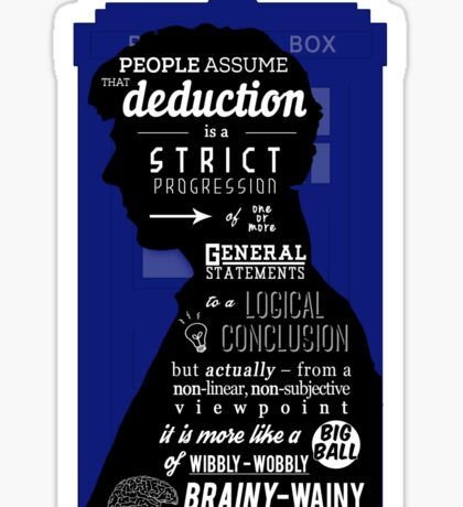 Wholock - A Study in Deduction Sticker